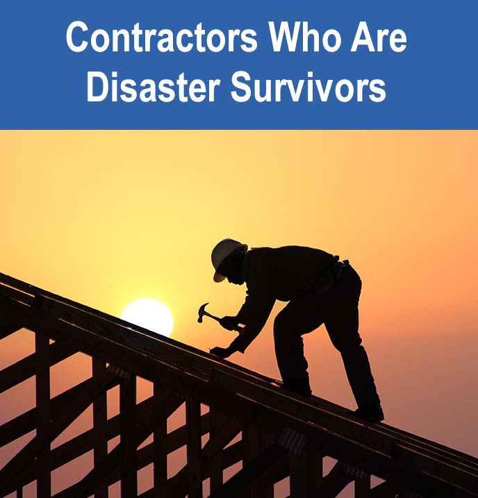 contractors who are disaster victims